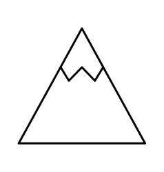 Mountain ice isolated icon vector