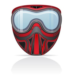 paintball mask 01 vector image
