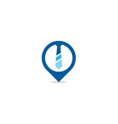 Pin job logo icon design vector