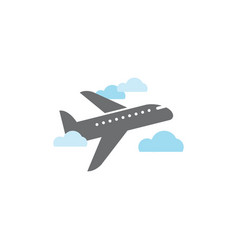 plane graphic design template isolated vector image