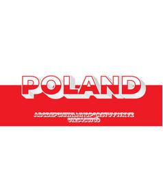 Poland flag color text style design template vector