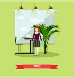 pupil concept in flat style vector image