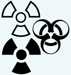 Radioactive and biohazard icon vector