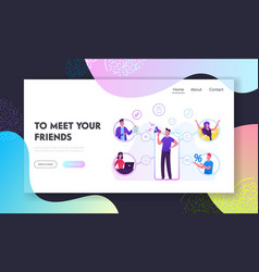 referral program business website landing page vector image