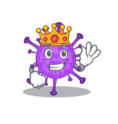 Royal king bovine coronavirus with crown vector
