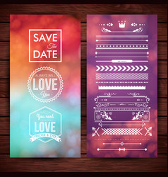 save date note and love icons vector image