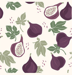 Seamless pattern with figs trendy hand vector