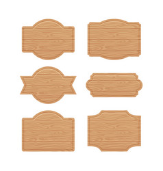 Set of wooden sign boards for sales prices vector