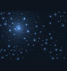 Shining stars glow in dark sky background vector