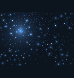 Shining stars glow in the dark sky background vector