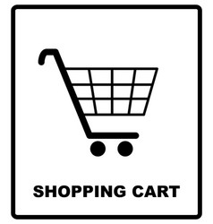 shopping cart sign mandatory vector image