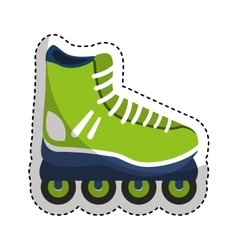 skate line isolated icon vector image