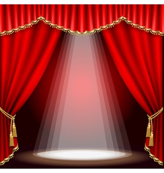 stage with red curtain clipping mask mesh vector image