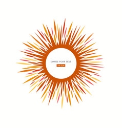 sun icon sign vector image