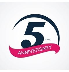 Template logo 5 anniversary vector