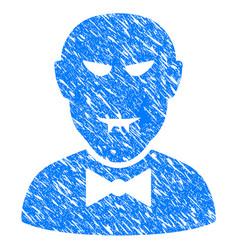vampire grunge icon vector image