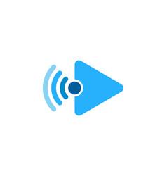 video wifi logo icon design vector image