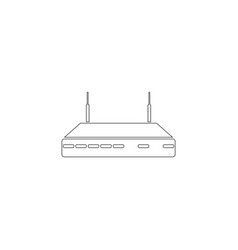 wifi router flat icon vector image