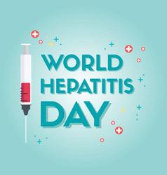 World hepatitis day design background vector