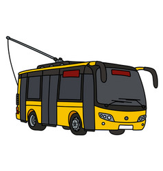 Yellow trolley bus vector