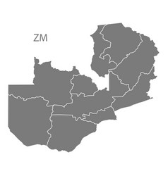 Map Provinces Zambia Vector Images (40)