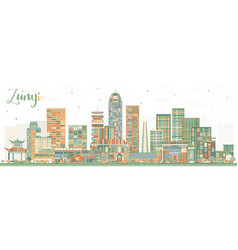 zunyi china city skyline with color buildings vector image
