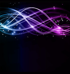 abstract wavy patterns with stars vector image vector image