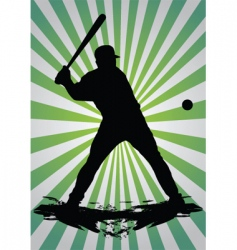 baseball silhouette vector image vector image