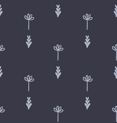 Cute floral geometric seamless pattern vector image vector image