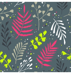 Decorative seamless pattern with leaf abstract vector image