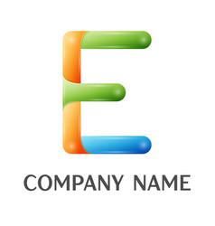 e letter colorful logo vector image