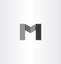 m black icon letter logo sign vector image vector image