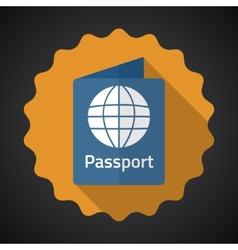 Travel Passport Flat icon background vector image