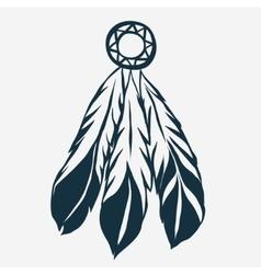 Tribal Feathers dreamcatcher vector image