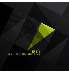 abstract triangle black background vector image