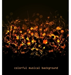 Colorful musical background vector image vector image
