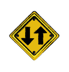 emblem warning notice icon vector image vector image