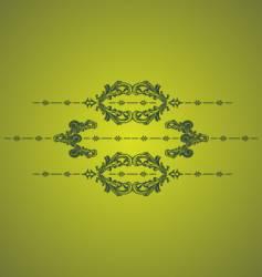green vintage vector image vector image