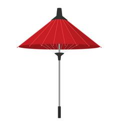 paper umbrella in asian flat design vector image vector image