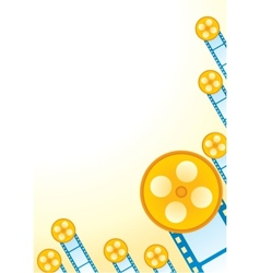 Retro movie poster vector image