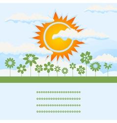 sun rise vector image