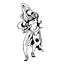 women dance vector image