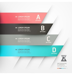 Abstract origami options banner vector image vector image