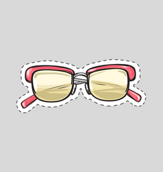 classic glasses icon patch isolated cut out vector image vector image