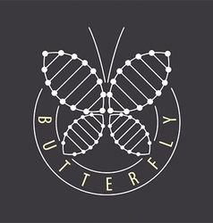 logo abstract tech butterfly vector image