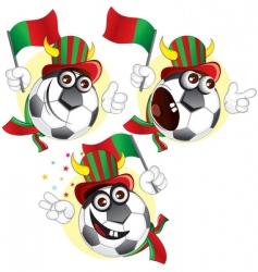 Portugal cartoon ball vector image vector image