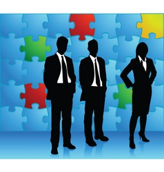 puzzle business vector image vector image