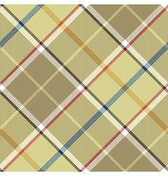Beige plaid diagonal fabric texture seamless vector