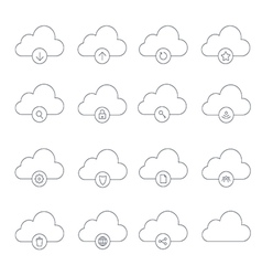 clouds icons1 vector image vector image
