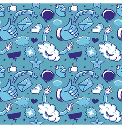 cool seamless pattern with social media icons - vector image